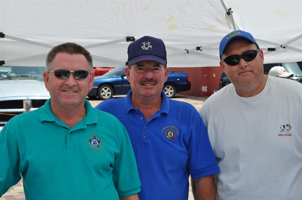 Three of Okaloosa's finest, (L - R) Inv. Ralph Garrett, Inv. Travis Robinson, and Lt. Larry Ward